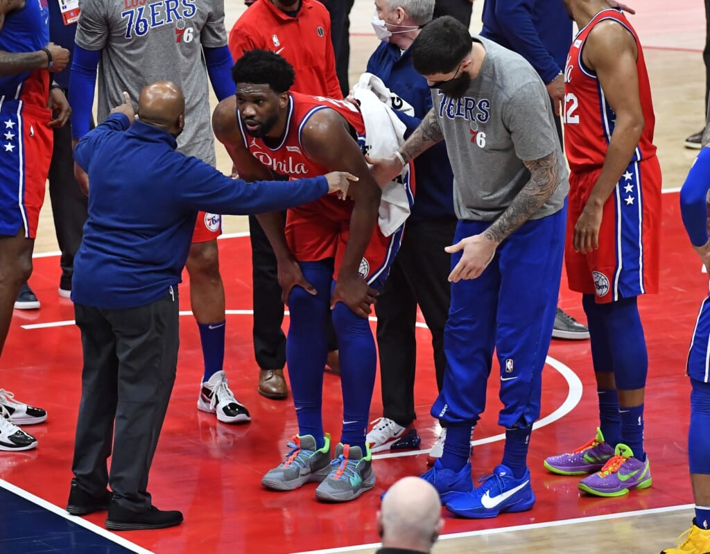 Joel Embiid continues struggle to stay healthy
