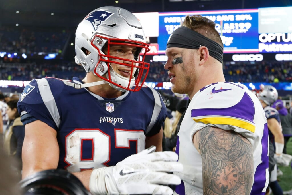 Kyle Rudolph would jump-start New England Patriots passing game