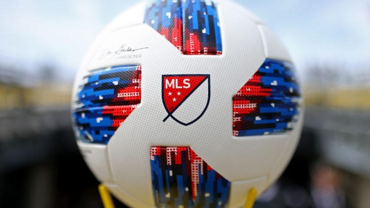 Mar 31, 2018; Columbus, OH, USA; A view of the MLS logo on the official game ball prior to the game of the Vancouver Whitecaps against the Columbus Crew SC at MAPFRE Stadium. Mandatory Credit: Aaron Doster-USA TODAY Sports