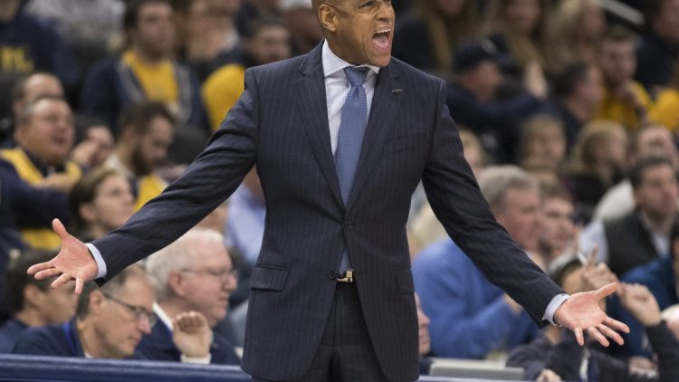 Dec 4, 2018; Milwaukee, WI, USA; UTEP Miners head coach Rodney Terry reacts during the second half against the Marquette Golden Eagles at Fiserv Forum. Mandatory Credit: Jeff Hanisch-USA TODAY Sports