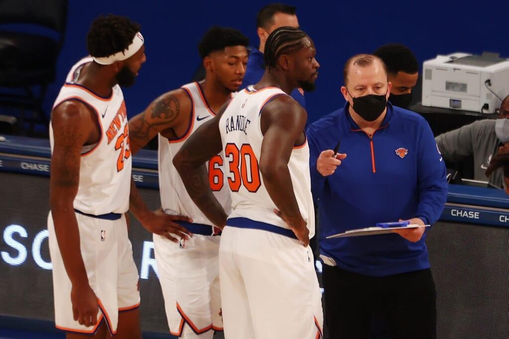 New York Knicks head coach Tom Thibodeau
