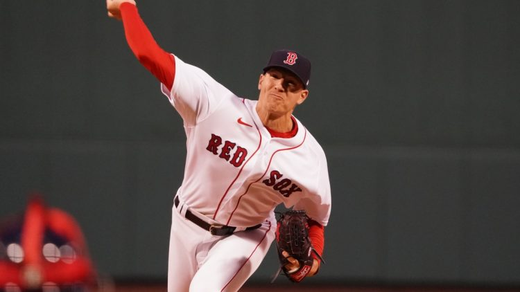 Apr 5, 2021; Boston, Massachusetts, USA; Boston Red Sox starting pitcher Nick Pivetta (37) throws a pitch against the Tampa Bay Rays in the first inning at Fenway Park. Mandatory Credit: David Butler II-USA TODAY Sports