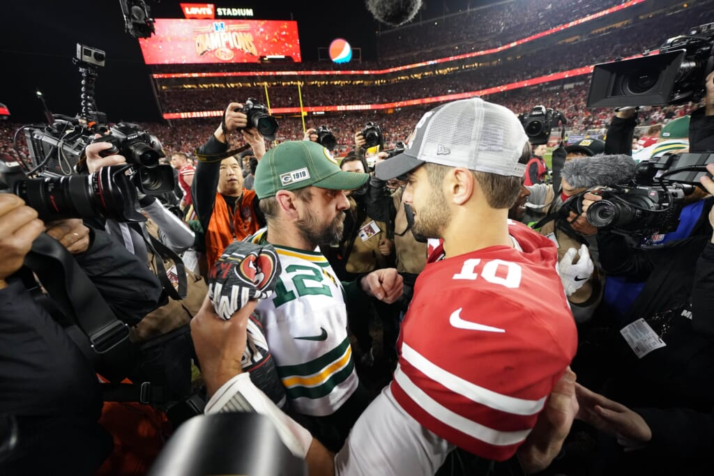 Aaron Rodgers trade for Jimmy Garoppolo