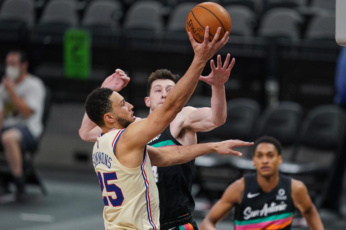 Ben Simmons' OT buzzer-beater lifts Philadelphia 76ers over San Antonio  Spurs