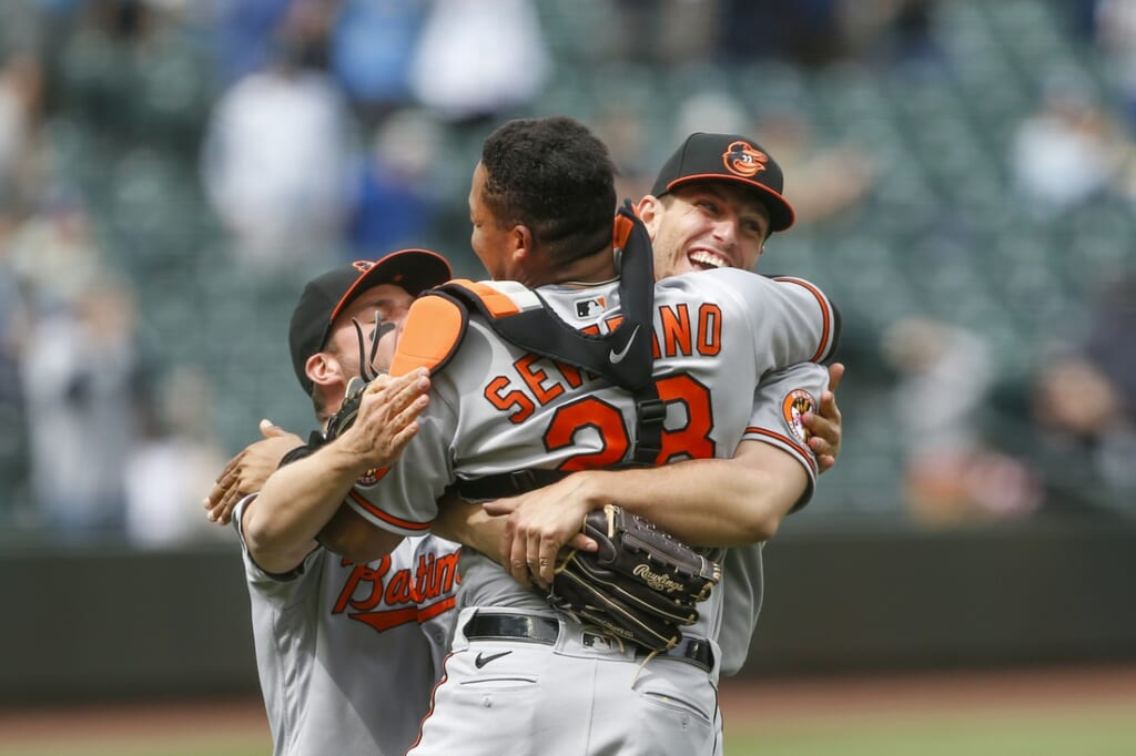 MLB pitch John Means throws no-hitter