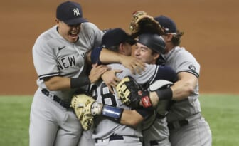 MLB pitcher Corey Kluber of the New York Yankees throws no-hitter