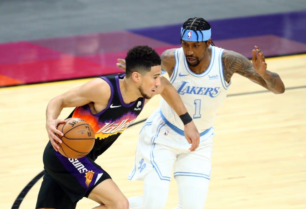 Phoenix Suns Devin Booker, Los Angeles Lakers Kentavius Caldwell-Pope