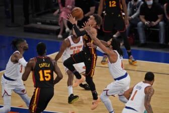 Atlanta Hawks' Trae Young against the New York Knicks