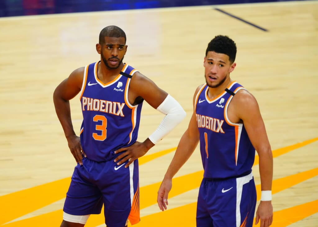 قوس المباراة الفاصلة للرابطة الغربية للرابطة الوطنية لكرة السلة: فريق لوس أنجلوس ليكرز يصعق فينيكس صنز في الجولة الأولى