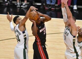 NBA world blasts Miami Heat for blowout Game 3 loss to Bucks