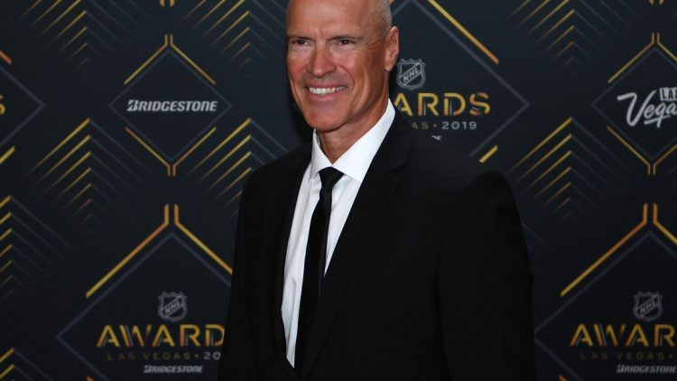 Jun 19, 2019; Las Vegas, NV, USA; Mark Messier is pictured on the red carpet during the 2019 NHL Awards at Mandalay Bay. Mandatory Credit: Stephen R. Sylvanie-USA TODAY Sports
