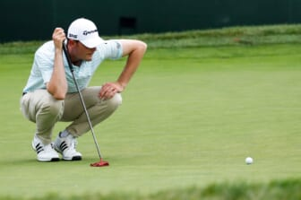 Wes Roach on the ninth green during the second round of the Rocket Mortgage Classic at the Detroit Golf Club in Detroit on Friday, June 28, 2019.  golf