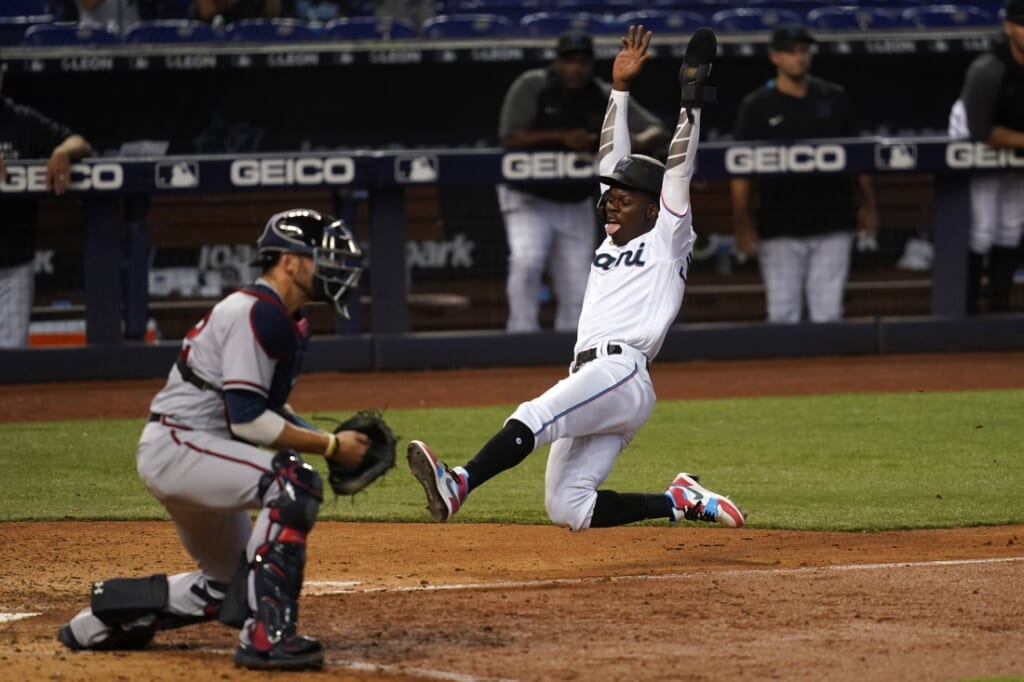 Offense and pitching have been polar opposites for the Miami Marlins