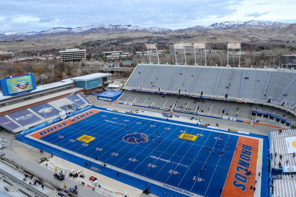 Best college football stadiums: Albertsons Stadium, Boise State Broncos