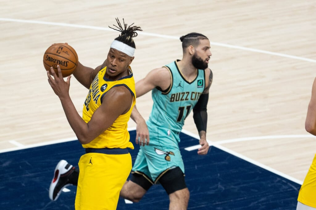 Myles Turner trade to the Charlotte Hornets