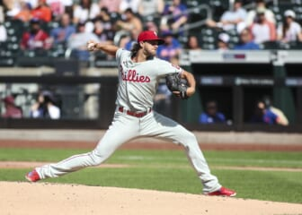 WATCH: Aaron Nola notches record-tying 10 straight strikeouts for Philadelphia Phillies