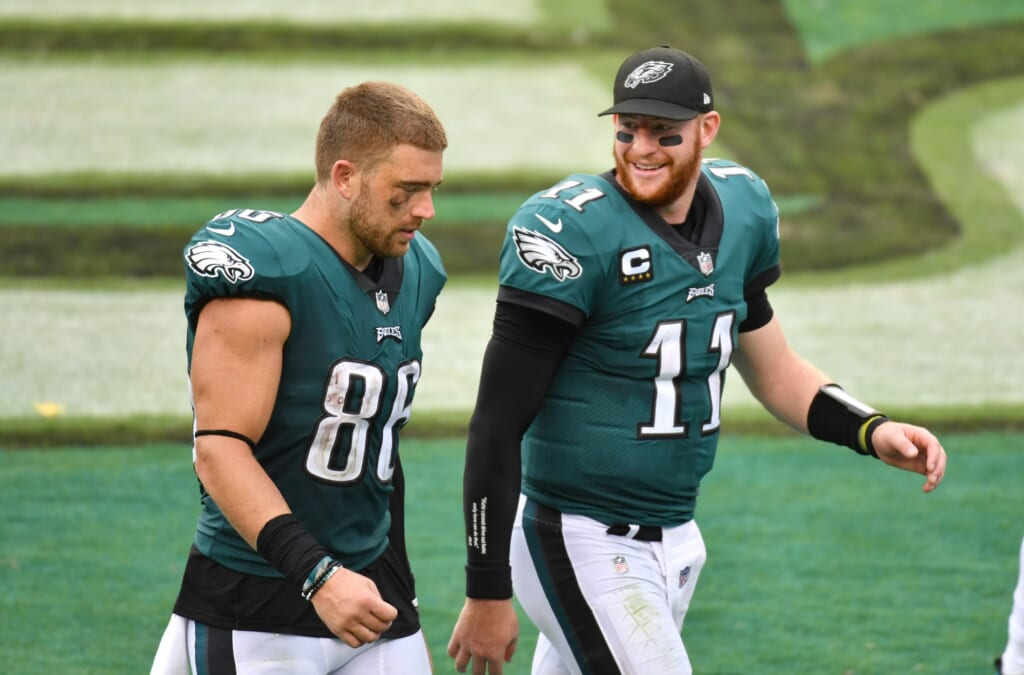 Zach Ertz could reunite with Carson Wentz on Indianapolis Colts