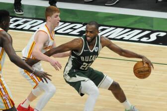 NBA: Playoffs-Atlanta Hawks at Milwaukee Bucks