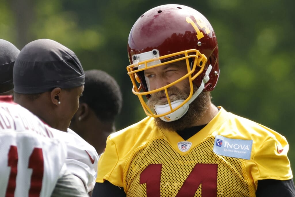 Ryan Fitzpatrick has never been in better position to be QB1 than with the Washington Football Team