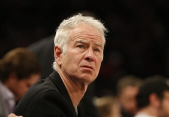 Mar 2, 2020; New York, New York, USA; Former professional tennis player John McEnroe attends the game between the New York Knicks and Houston Rockets during the second half at Madison Square Garden. Mandatory Credit: Andy Marlin-USA TODAY Sports