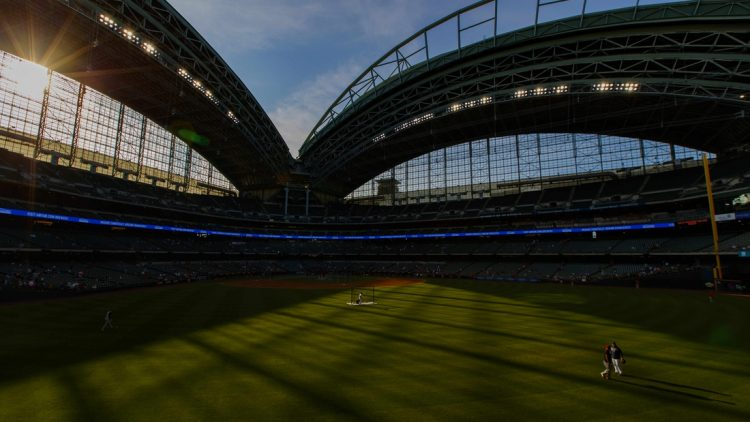 Jul 9, 2021; Milwaukee, Wisconsin, USA;  General view of American Family Field prior to the game between the Cincinnati Reds and Milwaukee Brewers. Mandatory Credit: Jeff Hanisch-USA TODAY Sports