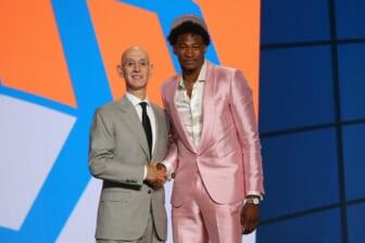Charlotte Hornets trade with New York Knicks, draft Kai Jones 19th overall
