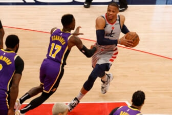 Wizards-Russell-Westbrook-against-Los-Angeles-Lakers