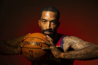 Sep 24, 2018; Cleveland, OH, USA; Cleveland Cavaliers guard J.R. Smith (5) poses during Cavs Media Day at Cleveland Clinic Courts. Mandatory Credit: Scott R. Galvin-USA TODAY Sports