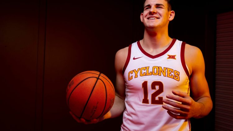 Iowa State redshirt senior forward Michael Jacobson poses for a photo during media day for Iowa State mens basketball on Wednesday, Oct. 16, 2019 in Ames.  1016 Isumbbmediaday 29 Jpg