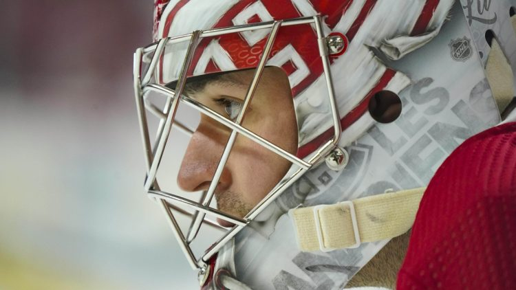 Dec 31, 2019; Raleigh, North Carolina, USA;  Montreal Canadiens goaltender Carey Price (31) looks on before the game against the Carolina Hurricanes at PNC Arena. The Carolina Hurricanes defeated the Montreal Canadiens 3-1. Mandatory Credit: James Guillory-USA TODAY Sports