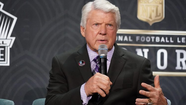 Feb 1, 2020; Miami, Florida, USA; Hall of Fame inductee Jimmy Johnson speaks to the media during the NFL Honors awards presentation at Adrienne Arsht Center. Mandatory Credit: Kirby Lee-USA TODAY Sports