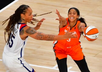Candace Parker suffers an ankle injury in Chicago Sky loss