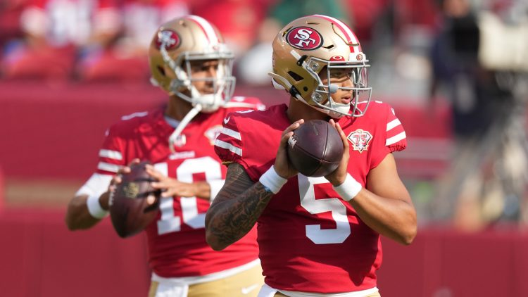 chargers vs 49ers: trey lance, jimmy garoppolo qb competition