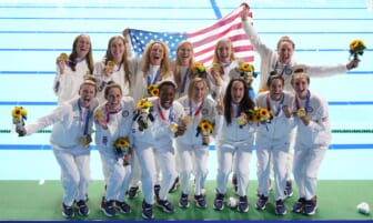 U.S. women's water polo wins gold medal 14-5 over Spain