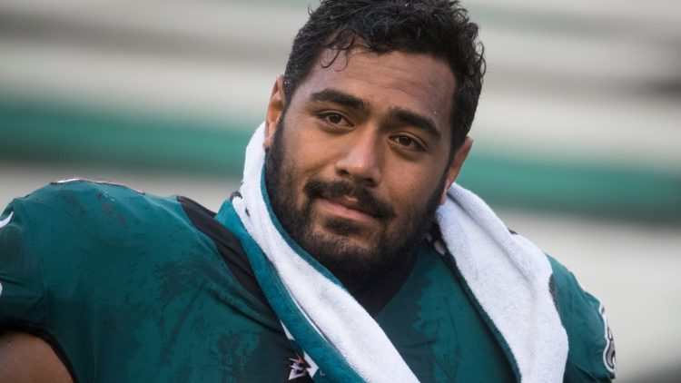 Eagles' Jordan Mailata (68) heads to the locker room after a 30-28 loss to the Baltimore Ravens Sunday, Oct. 18, 2020, at Lincoln Financial Field.  Sports Eagles Ravens