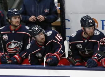 Star center Pierre-Luc Dubois was benched for all but about four minutes of a loss to Tampa Bay on Jan. 21 and was traded to Winnipeg two day later.  Sp Cbj 0121 Kwr 35 1