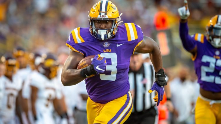 Andre Anthony runs back a fumble to score as The LSU Tigers take on Central Michigan Chippewas in Tiger Stadium. Saturday, Sept. 18, 2021.  Lsu Vs Central Michigan V1 7440