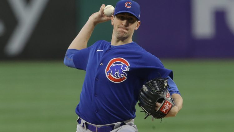 Sep 29, 2021; Pittsburgh, Pennsylvania, USA;  Chicago Cubs starting pitcher Kyle Hendricks (28) delivers a pitch against the Pittsburgh Pirates during the first inning at PNC Park. Mandatory Credit: Charles LeClaire-USA TODAY Sports