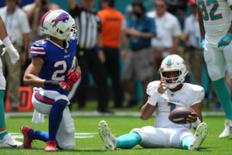 Miami Dolphins QB Tua Tagovailoa injured, carted to locker room in Week 2