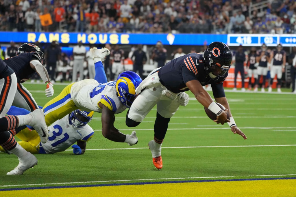 Justin Fields NFL: Chicago Bears at Los Angeles Rams