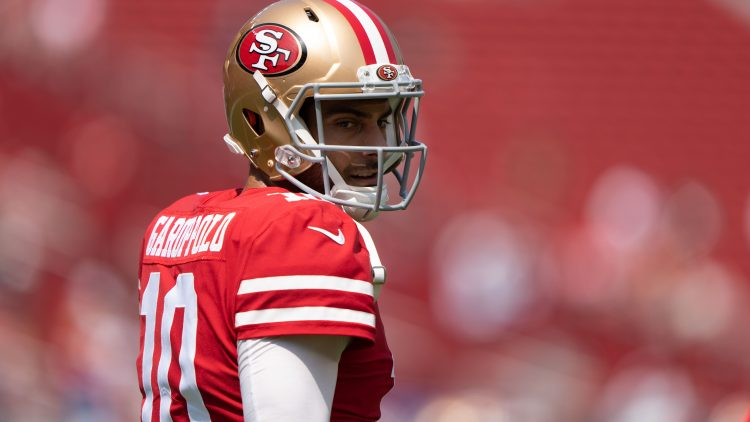 nfl qb to be benched: jimmy garoppolo