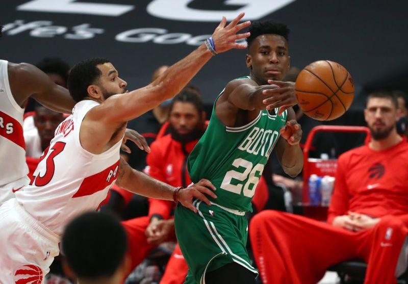 Boston Celtics trade Aaron Nesmith for Jerami Grant.